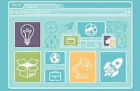 Image of web design elements