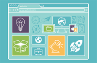 Illustration of a website home page