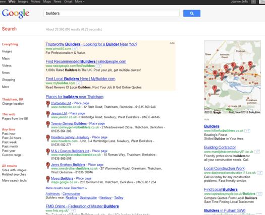 Google Search - Builders