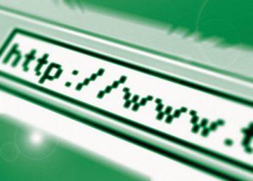 URL in browser address bar