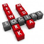 social media network spelled out