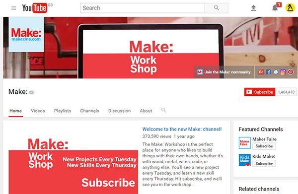 Make YouTube channel screenshot