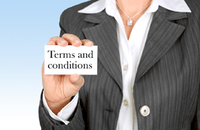 Image of sign saying Terms & Conditions