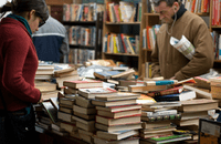 Image of customers in a book shop