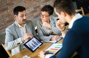 Image of business people in a meeting