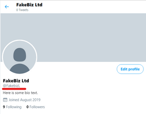 This is what your profile page should look like. Your own username should appear in the area underlined in red.