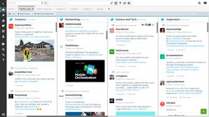 """A screenshot of """"streams"""" in Hootsuite."""