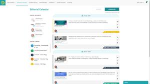 A screenshot of content recycler, RecurPost.