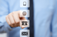 Image of phone and email icons