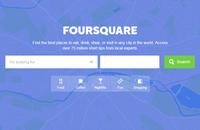 Image of Foursquare website