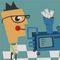 Cartoon image of a money making machine