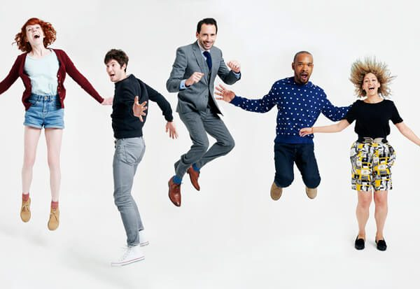 Image of people jumping