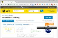 Image of Yell.com listing page