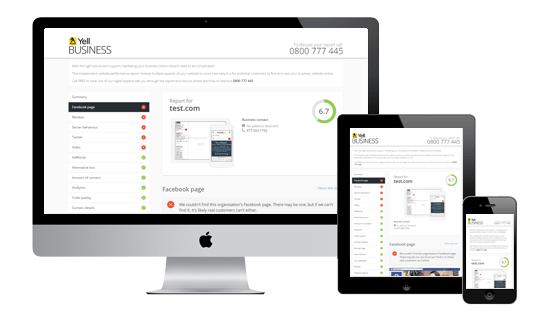 Website checker on desktop, mobile and tablet