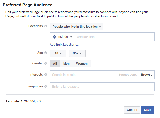 Facebook Business Page Preferrd Audience