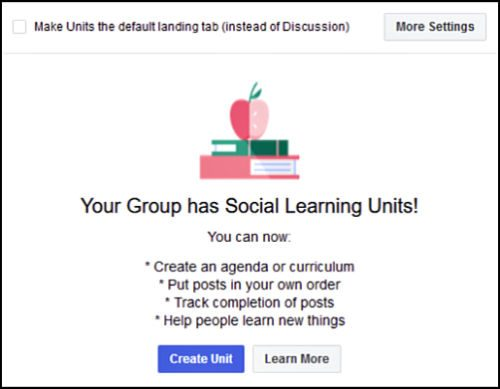 Your Facebook Group Has Social Learning Units