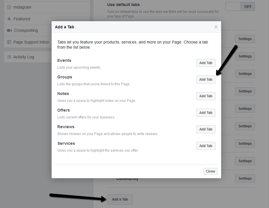 Add Group Tab To Facebook Page