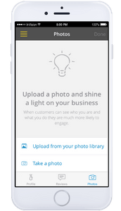 Update business details such as photos on the Yell for business app