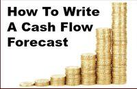 how to write a cash flow forecast