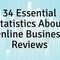 Online reviews are an essential part of doing business both online and offline. Check out these 34 stats that we feel all small businesses need to know!