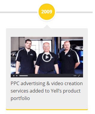 2009 - PPC advertising & video creation services added to Yell's product portfolio