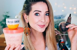 Image of Zoella reviewing products on YouTube
