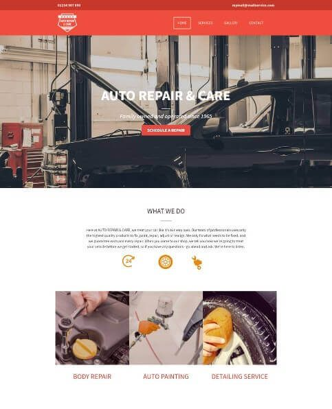 responsive website created using yell free website builder