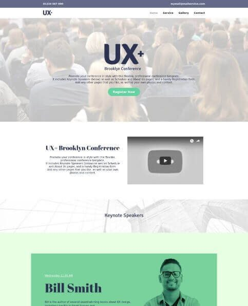 Yell FREE business website template 4