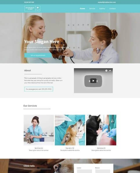 VETERINARY_CLINIC desktop template