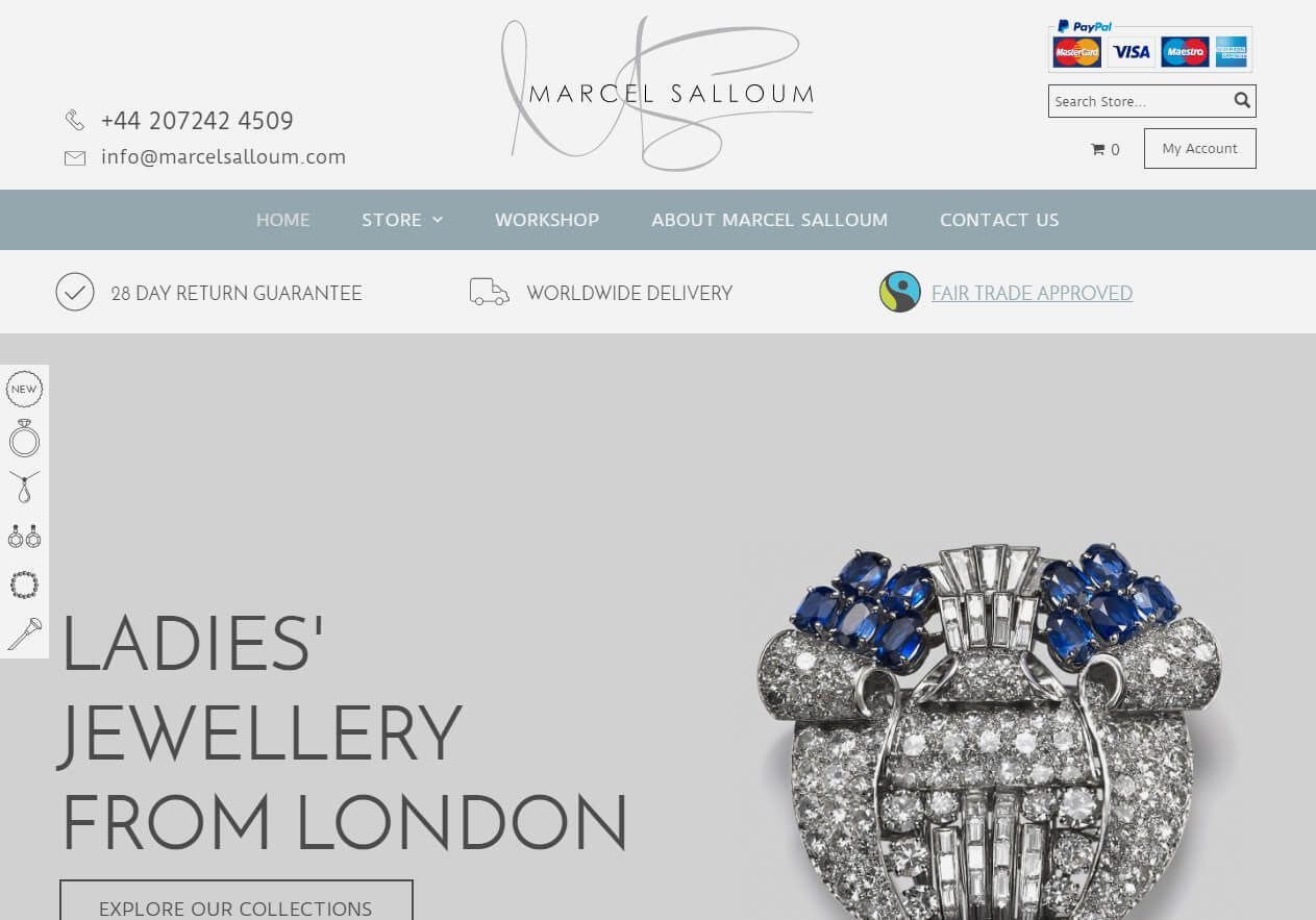 Marcel Salloum Store website example from Yell