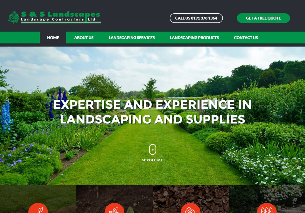 S&S landscapes Elite Website example from Yell