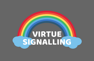 Virtue signalling - Pride rainbow