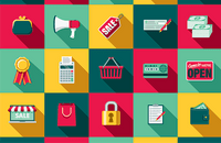 Image of online shopping icons