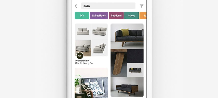 Example of a Pinterest shopping add with multiple product views