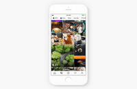 Phone showing the Explore tab in Instagram