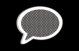Black and white speech bubble