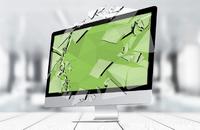 Breaking computer screen.