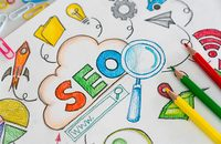 Illustration of SEO elements