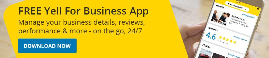 Yell for Business app banner