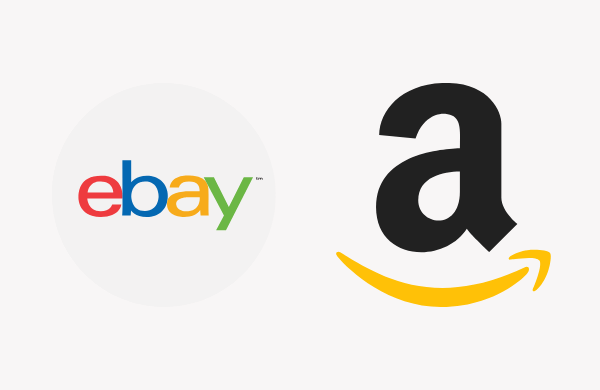 Image of Ebay and Amazon logos