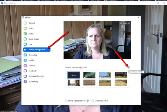 Upload Virtual Zoom Background