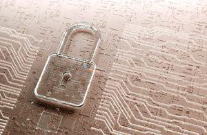 IT Security - Padlock & Computer Chip
