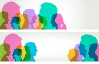 Image of silhouettes of people