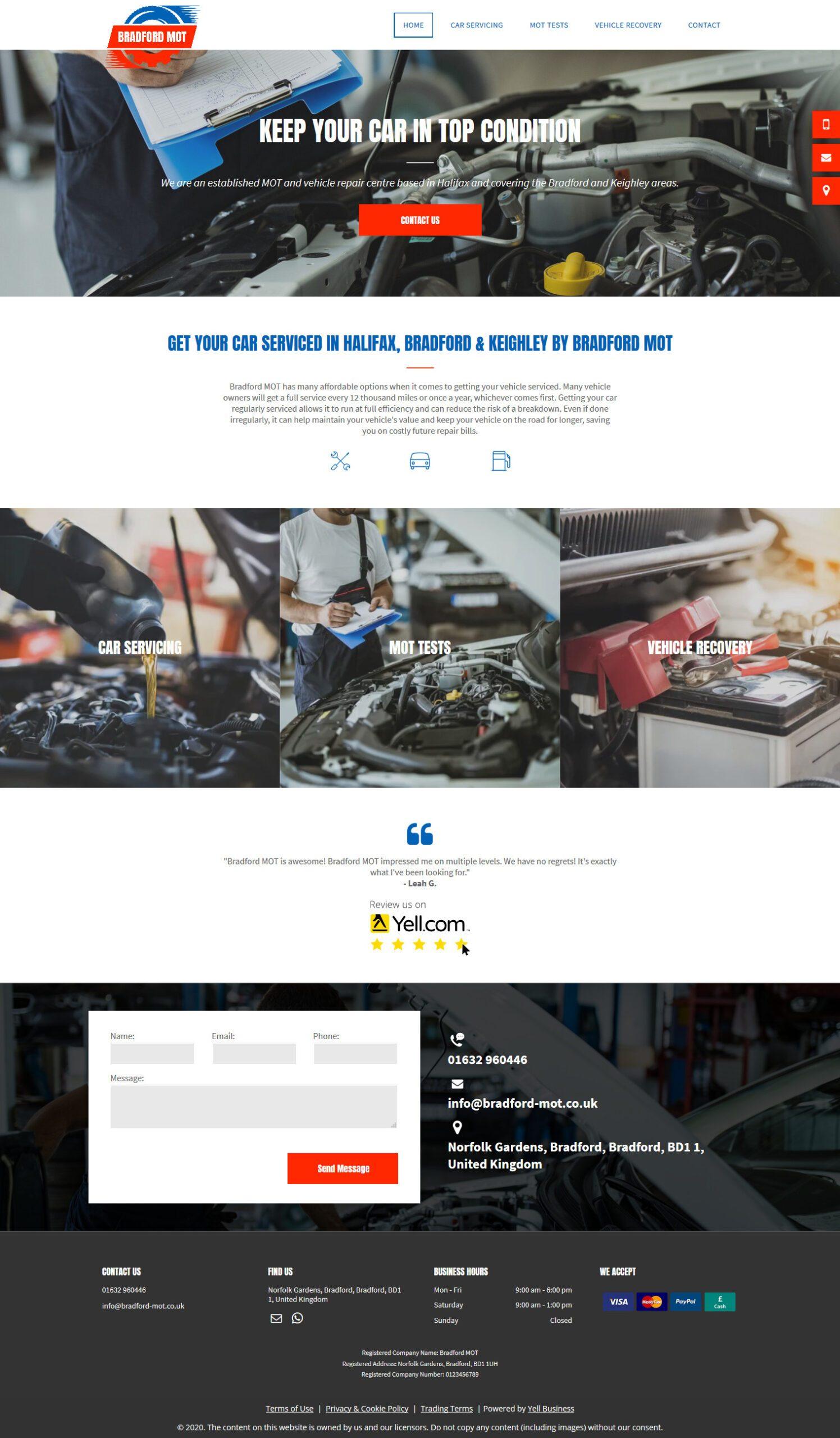 bradford-mot standard website