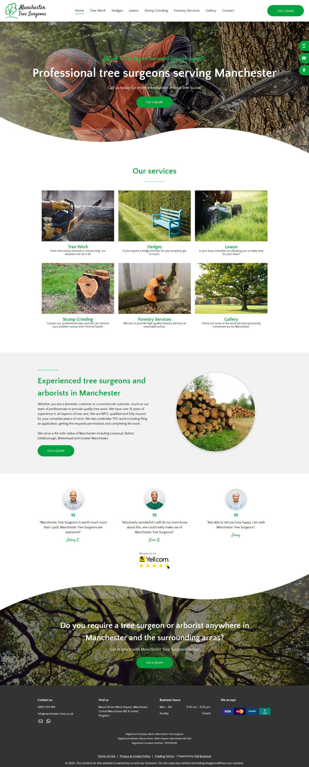 Manchester Tree Surgeon Advanced Website
