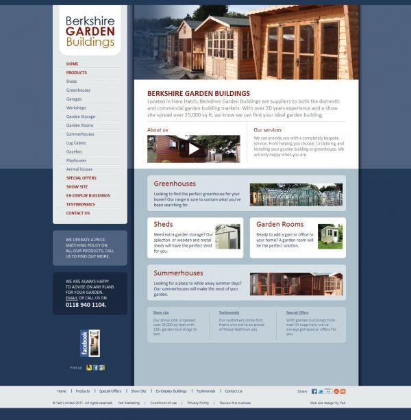Good Small Business Website User Experience Berkshire Garden Buildings