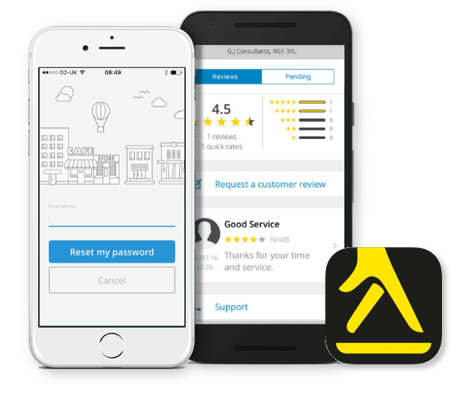 Yell for Business app on both ios and android phones
