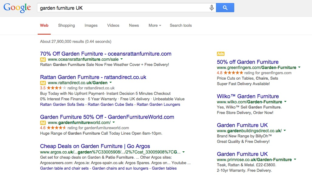 ... Rattan Garden Furniture Bq. Difference Between Ppc And Seo