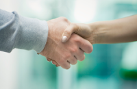 Image of business people handshaking
