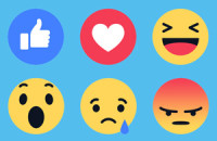 Image of Facebook Reactions faces